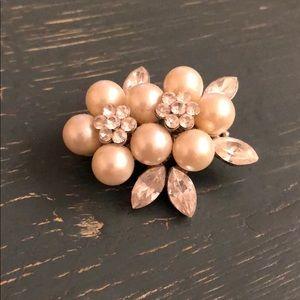Pearl Crystal Brooch